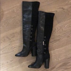 SCHUTZ Over The Knee Leather Suede Boots 7.5